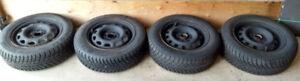 185/65/R14  Pneus d'hiver avec Jantes - Winter tires with Rims