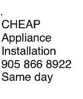 Same day appliance installation expert work,affordable pricing