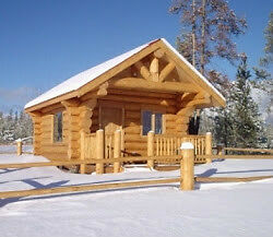 Beautiful log cabin for rent in the Cariboo