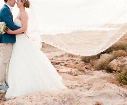Stunning Wedding Dress Pronovias Alcanar 2015 Size 10