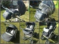 Silver cross linier freeway complete travel system