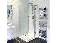 shower door and side panel 800 x 800 Hinged Shower Enclosure