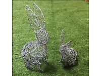 Small Wire Rabbit set of 2 - BUY 2 FOR THE PRICE OF 1
