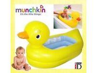 Munchkin inflatable duck baby bath