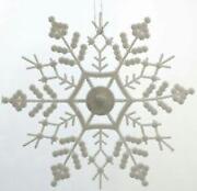 Plastic Snowflake Ornaments