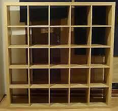 Ikea Expedit (not Kallax) 5x5 birch shelf effect