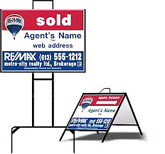 Sign Frame, for Realty or Lawn sign