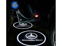 2 x 3D MERCEDES COB LED DOOR LOGO COURTESY LIGHT LASER GHOST PROJECTOR SHADOW PUDDLE LAMPS MK1