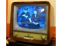 1957 Vintage Rubin 102 Black & White Valve TV * MUSEUM COLLECTORS PIECE * - Good Condition -WORKING