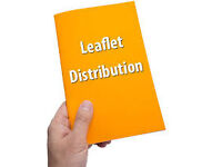Leaflet, flyer, newspaper, catalogue distribution/delivery service