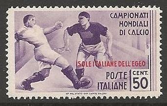 DODECANESE IS. SG130 1934 FOOTBALL WORLD CUP 50c MTD MINT