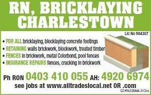 R.N Bricklaying Newcastle Charlestown Lake Macquarie Area Preview