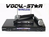 KARAOKE MACHINE PLAYER VOCAL-STAR VS-600 CDG DVD USB 2 MICS & 300 TOP SONGS