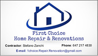 ✓FIRST CHOICE - CONTRACTOR & HANDYMAN (Drywall/Painting/Framing)