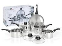 ETHOS COOK STAINLESS STEEL ECAPSULATED PAN SET