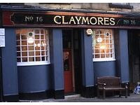 Bar Manager Claymores Stirling