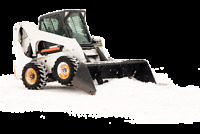 Snow plowing with a Bobcat - Whitehorse North