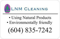 Cleaning coupon, LNM Cleaning, Bonded, WCB and Insured, Commerci