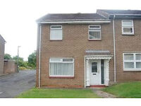 2 bed end of terrace house, unfurnished, available now, £400pcm