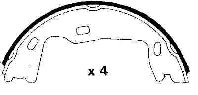 buy vauxhall carlton replacement parts brake shoes. Black Bedroom Furniture Sets. Home Design Ideas