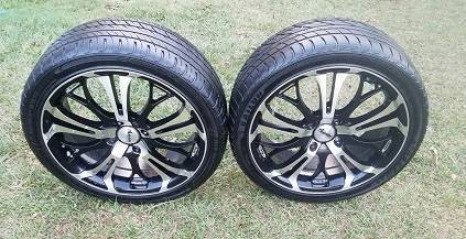 "2 X 18"" RIMS AND GOOD TYRES SUIT CAR OR TRAILER 4 STUD 4X114.3"