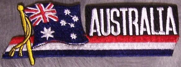 Embroidered International Patch National Flag of Australia NEW streamer