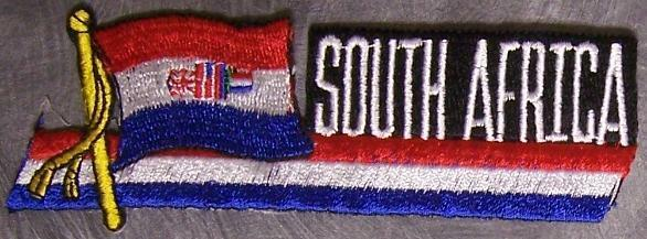 Embroidered International Patch National Flag of South Africa NEW streamer