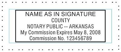 State Of Arkansas Custom Rectangle Self-inking Notary Seal Rubber Stamp