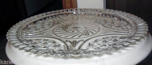 Crystal Serving Platter Ebay