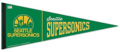 SEATTLE SUPERSONICS Retro-1980s-Style Premium Felt NBA Hardwood Classic (Retro Pennant)
