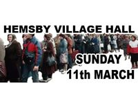"""SUNDAY 11TH MARCH - HEMSBY - """"ANTIQUES & COLLECTORS FAIR"""""""