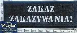 ZAKAZ ZAKAZYWANIA - embroidery patch embroider,aufnäher, naszywka - <span itemprop=availableAtOrFrom>Bydgoszcz, Polska</span> - only for buyers from Poland /// zwroty uwzgledniane tylko dla kupujacych z Polski /tylko w przypadku stwierdzenia wady fabrycznej przedmiotu. Przyjmuję zwroty w ramach odstąpienia od umowy za - Bydgoszcz, Polska