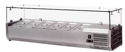 Omcan Rs-cn-0004-p 48 European Topping Rail Refrigerated Pizza Prep Table Top