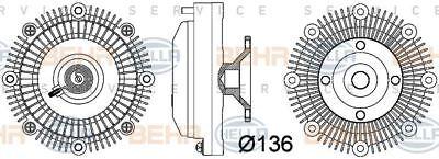 8MV 376 757-381 HELLA Clutch, radiator fan