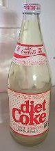 Coca Cocla Diet Coke Rare 1.5 Liter Glass Bottle from 1970