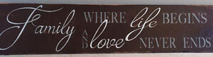 Large Reclaimed Wood Family Sign