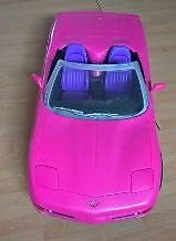 2001 Mattel Barbie Pink Corvette Convertible Car