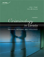 Criminology in Canada by Siegel 4th EDN