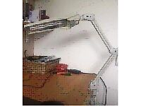 Angle desk/ workshop lamp little used expensive quality