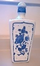Delfts Blauw Hand Painted Blue and White Decanster