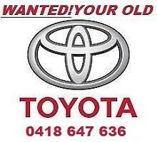 CA$H PAID FOR MOST TOYOTA'S  AND SOME other COMPLETE cars Pialba Fraser Coast Preview