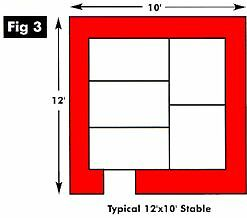 12ft x 10ft Stable Layout