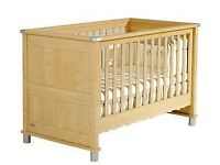 Mamas and papas 3 piece nursery furniture set - cot bed, wardrobe and drawers