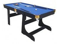 6ft folding pool table, used once as no room to play in garage.