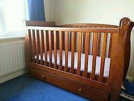 Babies R us cot bed with Mattress