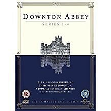 Box set of Downton Abbey Series 1 -4 all 33 incl Christmas @ Downton,A Journey to the Highlands