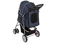 Comfortable Sport Pet Stroller with lockable wheels and a collapsible hood for dogs up to 20K