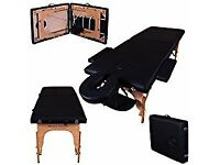 Massage Imperial® Black Charbury 2-Section Portable Massage Table Couch Bed...