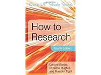 Book, How to Research - Blaxter, Hughes and Tight