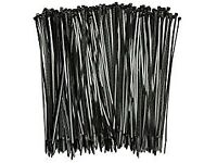 cable tie 1000 CABLE TIES 250MM X 4.8 BRAND NEW GARDENING RUNNER BEANS ALLOTMENTS TOMATO PLANTS